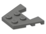 LEGO® Brick: Wing 3 x 4 with 1 x 2 Cutout with Stud Notches (48183) | Color: Dark Grey
