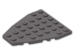LEGO® Brick: Wing 7 x 6 with Stud Notches (50303) | Color: Dark Stone Grey