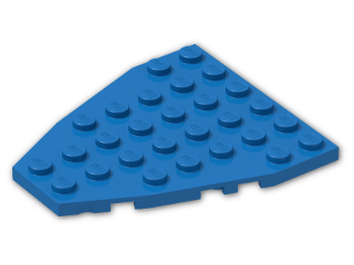 LEGO® Brick: Wing 7 x 6 with Stud Notches (50303) | Color: Bright Blue