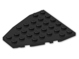 LEGO® Brick: Wing 7 x 6 with Stud Notches (50303) | Color: Black