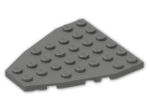 LEGO® Brick: Wing 7 x 6 with Stud Notches (50303) | Color: Dark Grey
