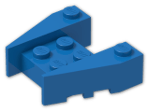 LEGO® Stein: Wedge 3 x 4 with Stud Notches (50373) | Farbe: Bright Blue