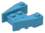 LEGO® Brick: Wedge 3 x 4 with Stud Notches (50373) | Color: Dark Azur