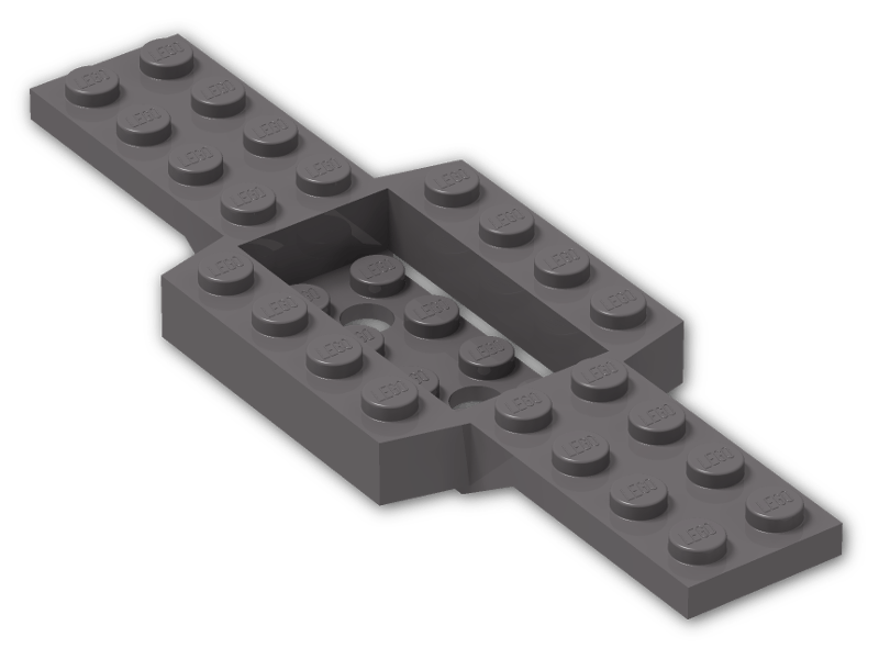 Lego Black Vehicle Base 4 x 10 x 2//3 with 4 x 2 Recessed Center