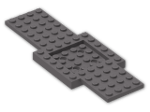 LEGO® Brick: Car Base 16 x 6 with 4 x 4 Recessed Centre (52037) | Color: Dark Stone Grey