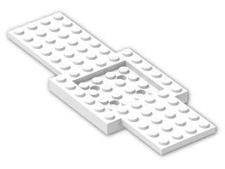 LEGO® Brick: Car Base 16 x 6 with 4 x 4 Recessed Centre (52037) | Color: White