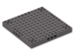 LEGO® Brick: Brick 12 x 12 with 3 Pin Holes on Sides & Axle Holes in Corners (52040) | Color: Dark Stone Grey