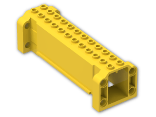 LEGO® Stein: Brick Hollow 4 x 12 x 3 with 8 Pegholes (52041) | Farbe: Bright Yellow
