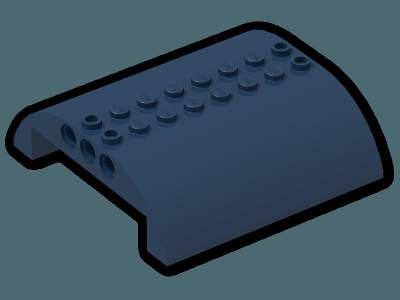 4 ~ Blue 1x6 Double Inverted Hull Sloped Bricks ~ New Lego Parts ~