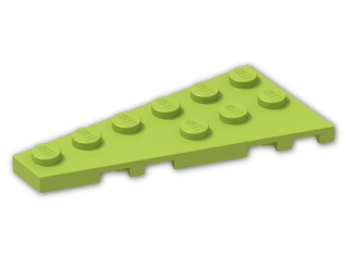 LEGO® Brick: Wing 3 x 6 Left (54384) | Color: Bright Yellowish Green