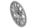 LEGO® Brick: Wheel Cover 7 Spoke Forked for Wheel 34 x 56 (58088) | Color: Silver