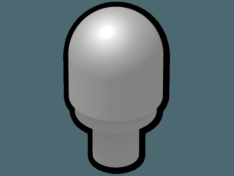 LEGO PART 58176 FLAT SILVER LIGHT COVER WITH INTERNAL BAR BARRAKI EYE X4