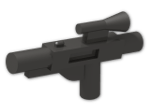 LEGO® Brick: Minifig Gun Short Blaster (58247) | Color: Metallic Dark Grey