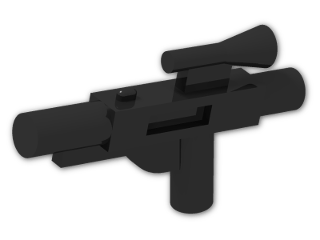 LEGO® Brick: Minifig Gun Short Blaster (58247) | Color: Black