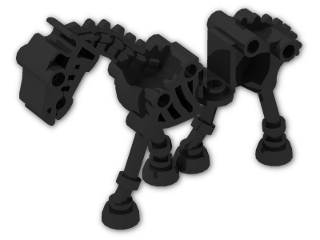 LEGO® Brick: Animal Horse Skeletal (59228) | Color: Black