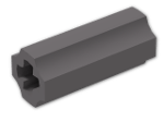 LEGO® Brick: Technic Axle Joiner Inline Smooth (59443) | Color: Dark Stone Grey