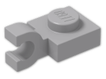 LEGO® Brick: Plate 1 x 1 with Clip Horizontal (Open U-Clip) (6019) | Color: Medium Stone Grey