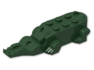 LEGO® Stein: Animal Crocodile Body (6026) | Farbe: Earth Green