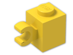 LEGO® Brick: Brick 1 x 1 with Clip Horizontal (Thick C-Clip) (60476) | Color: Bright Yellow