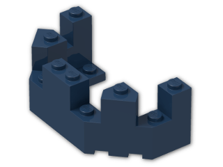 LEGO® Brick: Brick 4 x 8 x 2.333 Turret Top (6066) | Color: Earth Blue
