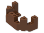 LEGO® Brick: Brick 4 x 8 x 2.333 Turret Top (6066) | Color: Reddish Brown
