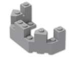 LEGO® Brick: Brick 4 x 8 x 2.333 Turret Top (6066) | Color: Medium Stone Grey