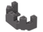 LEGO® Brick: Brick 4 x 8 x 2.333 Turret Top (6066) | Color: Dark Stone Grey