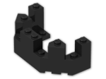 LEGO® Brick: Brick 4 x 8 x 2.333 Turret Top (6066) | Color: Black