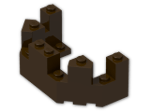 LEGO® Brick: Brick 4 x 8 x 2.333 Turret Top (6066) | Color: Dark Brown