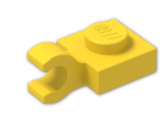 LEGO® Brick: Plate 1 x 1 with Clip Horizontal (Thick C-Clip) (61252) | Color: Bright Yellow