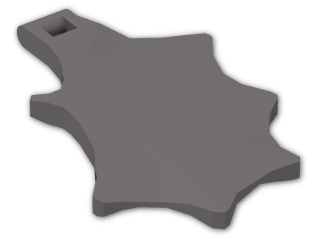 LEGO® Brick: Animal Dragon Wing (6133) | Color: Dark Stone Grey