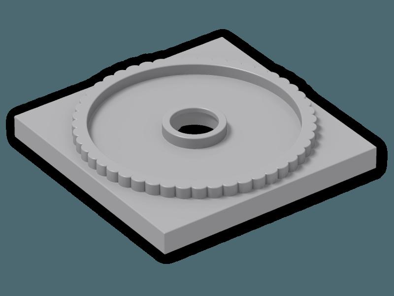 5x LEGO NEW 4x4 Black Turntable Flat Base 4517986 Brick 61485