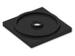 LEGO® Stein: Turntable Flat Base 4 x 4 (61485) | Farbe: Black