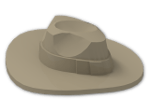 LEGO® Stein: Minifig Hat Fedora (61506) | Farbe: Sand Yellow