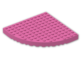 LEGO® Brick: Brick 12 x 12 Corner Round (Needs Work) (6162) | Color: Bright Purple