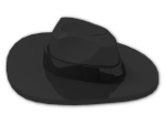 LEGO® Brick: Minifig Hat Fedora (61506) | Color: Black