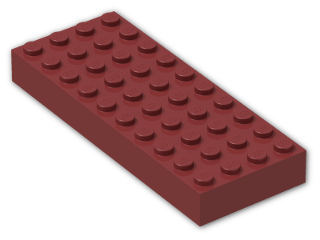 LEGO® Brick: Brick 4 x 10 (6212) | Color: New Dark Red