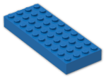 LEGO® Brick: Brick 4 x 10 (6212) | Color: Bright Blue