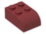 LEGO® Brick: Brick 2 x 3 with Curved Top (6215) | Color: New Dark Red