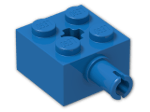 LEGO® Brick: Brick 2 x 2 with Pin and Axlehole (6232) | Color: Bright Blue