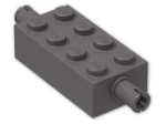 LEGO® Stein: Brick 2 x 4 with Pins (6249) | Farbe: Dark Stone Grey