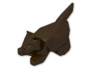 LEGO® Brick: Animal Cat Crouching (6251) | Color: Dark Brown