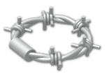 LEGO® Stein: Minifig Barbed Wire Loop (62700) | Farbe: Silver flip/flop