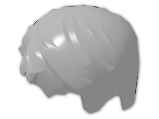LEGO® Stein: Minifig Hair Short, Tousled with Side Parting (62810) | Farbe: Medium Stone Grey
