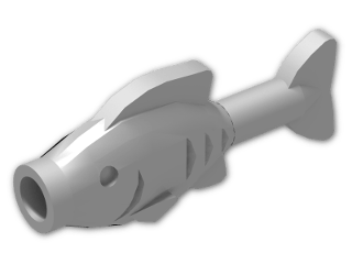 LEGO® Stein: Animal Fish Straight (64648) | Farbe: Silver