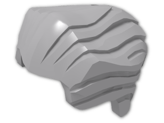LEGO® Stein: Minifig Hair Backslick (64798) | Farbe: Medium Stone Grey