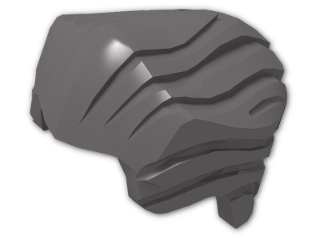 LEGO® Brick: Minifig Hair Backslick (64798) | Color: Dark Stone Grey