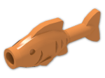 LEGO® Brick: Animal Fish Straight (64648) | Color: Bright Orange