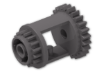LEGO® Brick: Technic Differential with Gear 16 Tooth and 24 Tooth (6573) | Color: Dark Stone Grey
