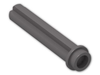 LEGO® Brick: Technic Axle 3 with Stud (6587) | Color: Dark Stone Grey